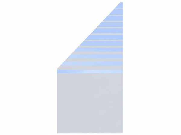 Sichtschutzzaun SYSTEM GLAS BETA Abschlusselement Links