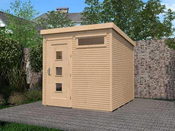 Gartenhaus Komfort 171 Gr. 1 28 mm naturbelassen