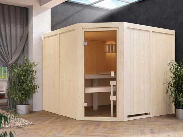 Sauna Systemsauna SPARSET Celine 7 inkl. 8 kW Ofen mit int. Steuerung
