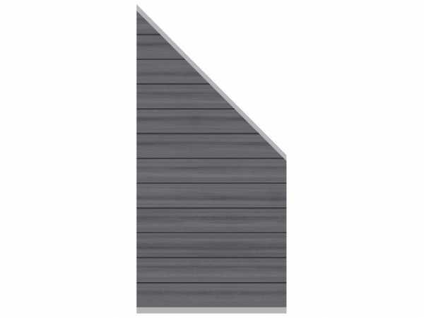 Sichtschutzzaun SYSTEM WPC Platinum Zaun-Anschluss-Set Abschlusselement Grau