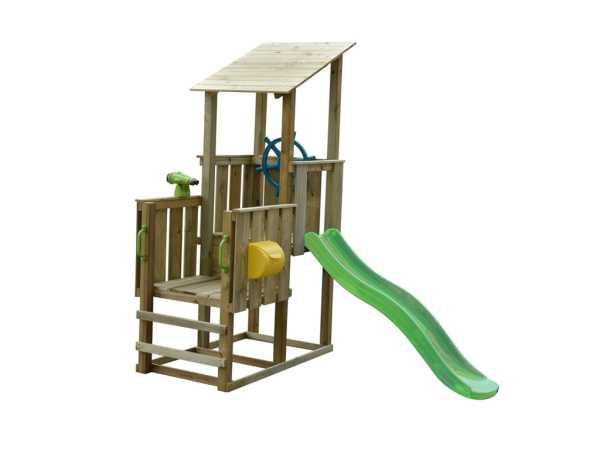 Spielturm SPARSET Playcenter Pirate KDI inkl. Rutsche grün + Zubehör