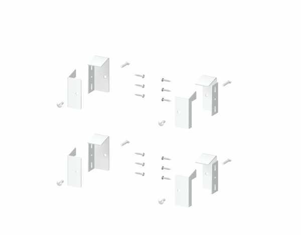 Elementhalter Set für LONGLIFE CARA Weiß