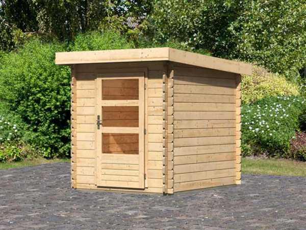 Gartenhaus Blockbohlenhaus Bastrup 1 28 mm naturbelassen