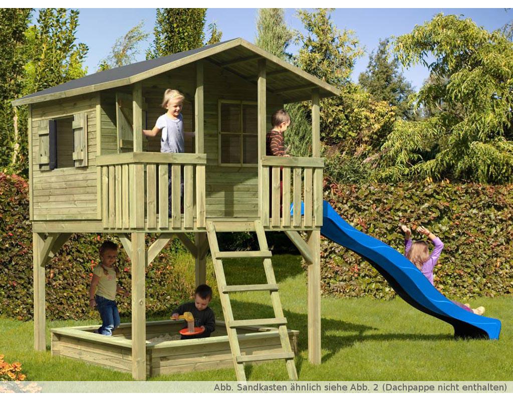 spielhaus stelzenhaus sparset 2 leon inkl 2 9 m rutsche. Black Bedroom Furniture Sets. Home Design Ideas