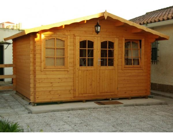 Gartenhaus Blockbohlenhaus Hoby Nervion 28 mm naturbelassen