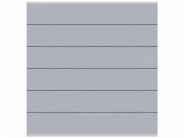 Sichtschutzzaun SYSTEM WPC XL Zaunfeld-Set Grau-Silber