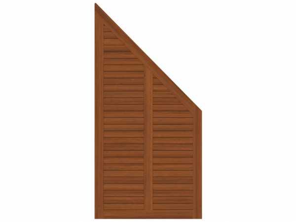 Sichtschutzzaun GRAZIA Abschlusselement Braun