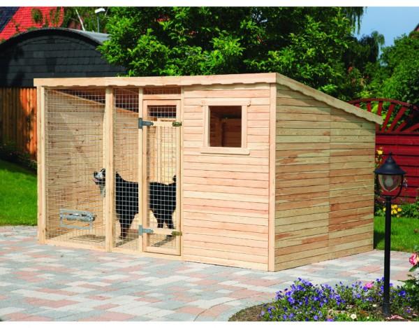 Hundezwinger XL inkl. Fußboden und Erweiterung 2 m²