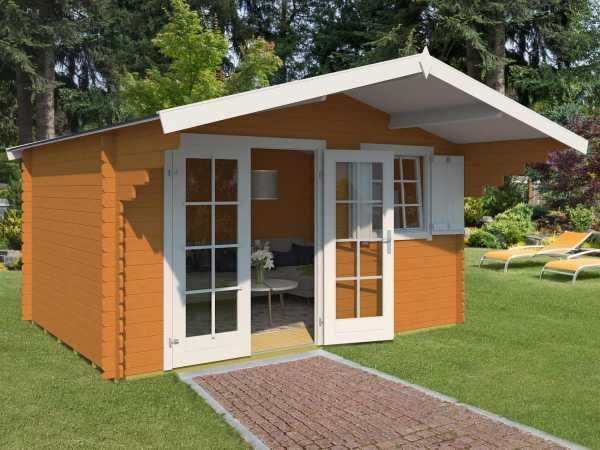 Gartenhaus Blockbohlenhaus Orlando 28 28 mm eiche
