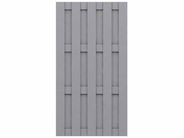 Sichtschutzzaun JUMBO WPC Halbelement Rechteck grau