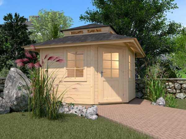 Gartenhaus 149 A Gr. 2 28 mm naturbelassen