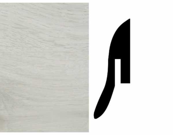 Sockelleiste Eiche weiß Dekor Fußleiste A