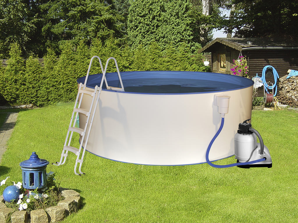 Poolset safety mit sandfilter my0141 for Garten pool korsika 1 sparset