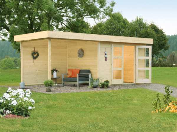 Gartenhaus Calais 28 mm naturbelassen