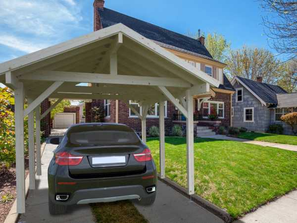 Carport Robert 11,7 m² transparent tauchimprägniert