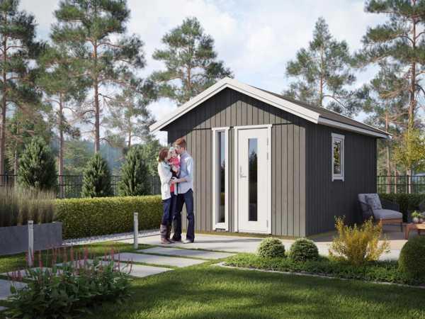 "Gartenhaus ""Nordic Plus 15"" 19 mm naturbelassen"