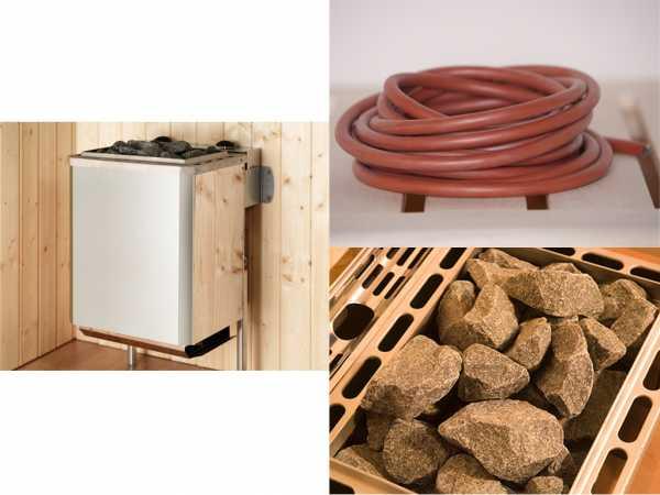 Saunaofen Set 9 mit 9,0 kW Ofen Kompakt inkl. integrierter Steuerung