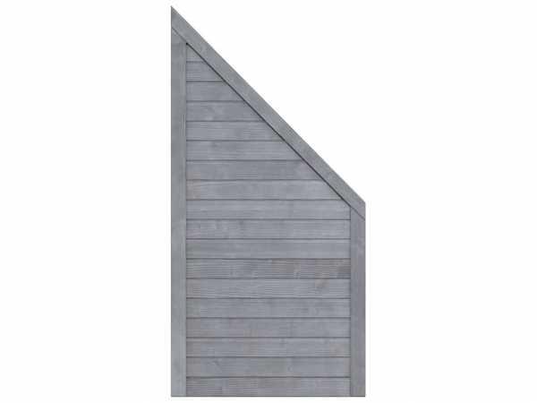 Sichtschutzzaun NEO Design Abschlusselement grau