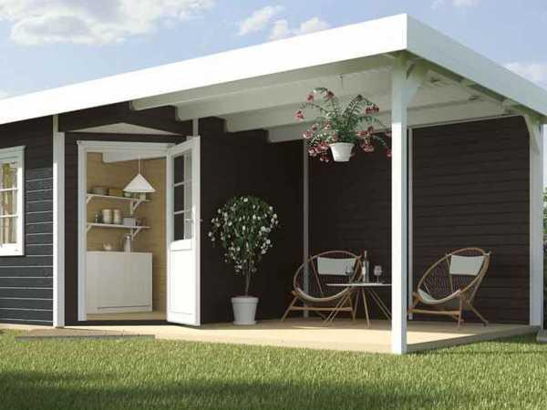 Gartenhaus Designhaus 213 Plus B Gr. 1 anthrazit