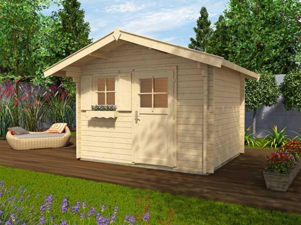 Gartenhaus Blockbohlenhaus Sparset 131 Gr. 2 45 mm naturbelassen