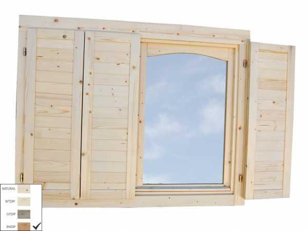 Fensterläden für Doppelfenster 28/34/44 mm braun tauchimprägniert