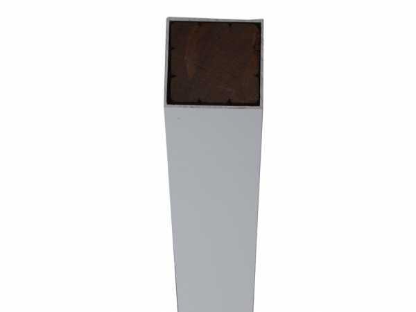 Alupfosten silber anodisiert 190 cm