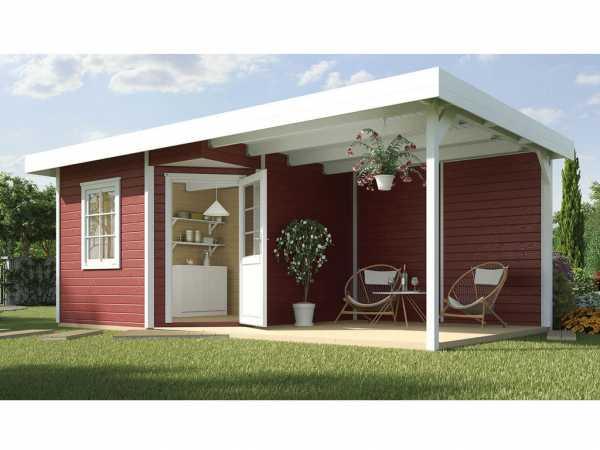 Gartenhaus Designhaus 213 B Gr. 2 28 mm schwedenrot
