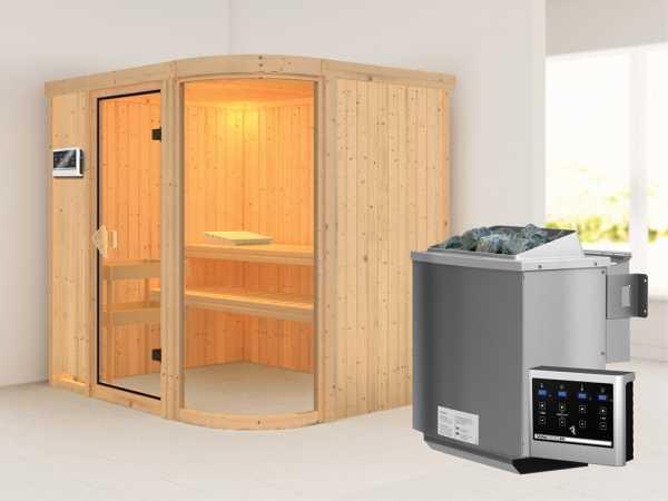 Sauna Systemsauna Parima 2 inkl. 9 kW Bio-Kombiofen ext. Steuerung