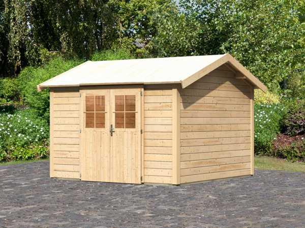 Gartenhaus Espelo 7 CLASSIC 28 mm naturbelassen