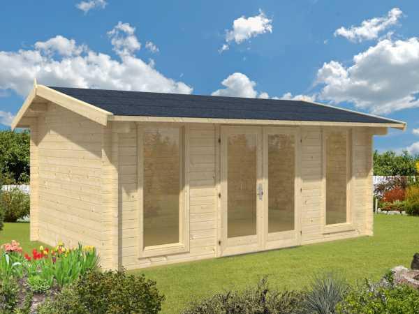 Gartenhaus Blockbohlenhaus Oxfordshire 53 44 mm eiche