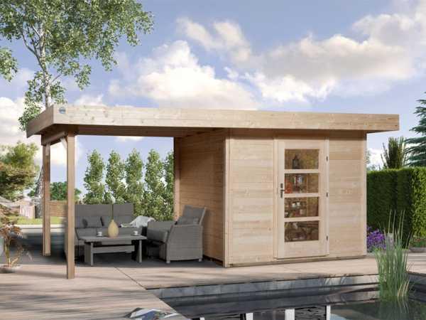 Gartenhaus Designhaus 172 B Gr.1 28 mm naturbelassen