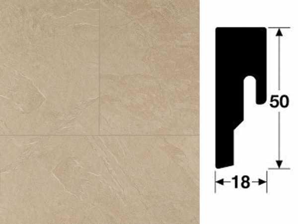 Sockelleiste Vierkant Schiefer sahara 6138