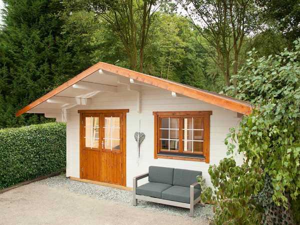 "Gartenhaus Blockbohlenhaus ""Lappland 70-C XL"" 70 mm naturbelassen"