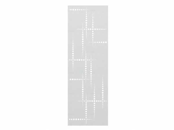 Sichtschutzzaun SYSTEM Gitter Puls Silber