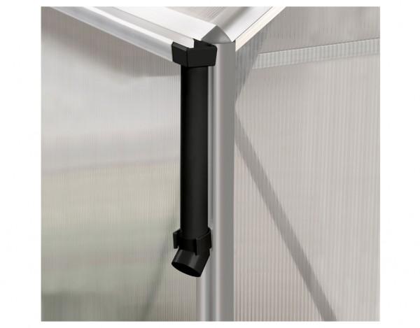 Gewächshaus Zubehör Regenfallrohr-Set aus PVC, 1 Set = 2 Stück