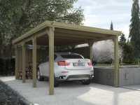 Flachdach Einzelcarport 617 Gr. 2 , ohne Dachplatten