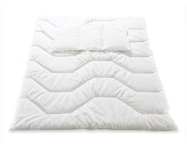 Polytherm-Bettdecke mit Flachkissen