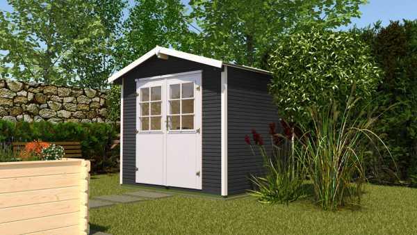 Gartenhaus 218 Gr. 3 28 mm DT anthrazit