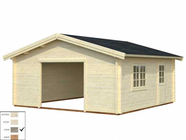 Garage Roger 27,7 m² ohne Tor 70 mm grau tauchimprägniert