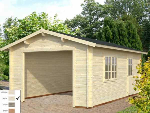 Garage Roger 19,0 m² ohne Tor 44 mm transparent tauchimprägniert