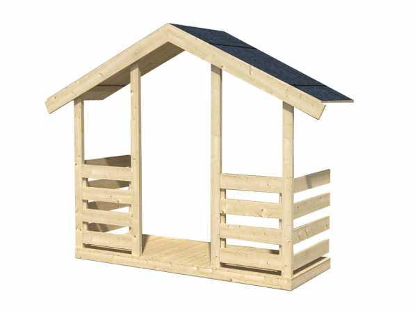 """Terrassenerweiterung für Kinderspielhaus """"Toby"""" 176 x 70 cm"""