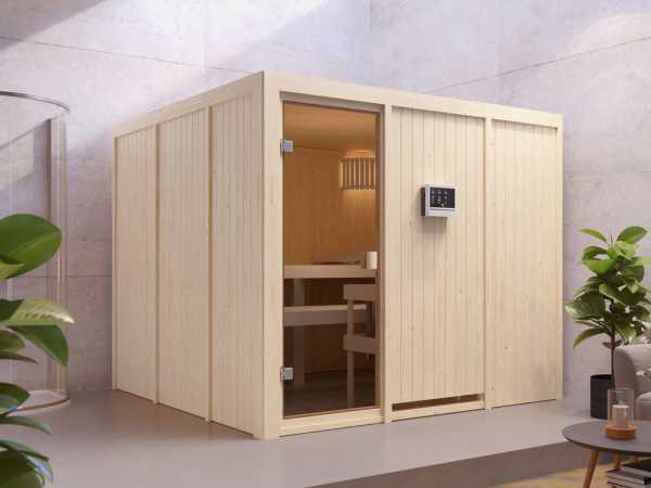 Sauna Systemsauna SPARSET Celine 8 inkl. 9 kW Ofen mit integr. Steuerung