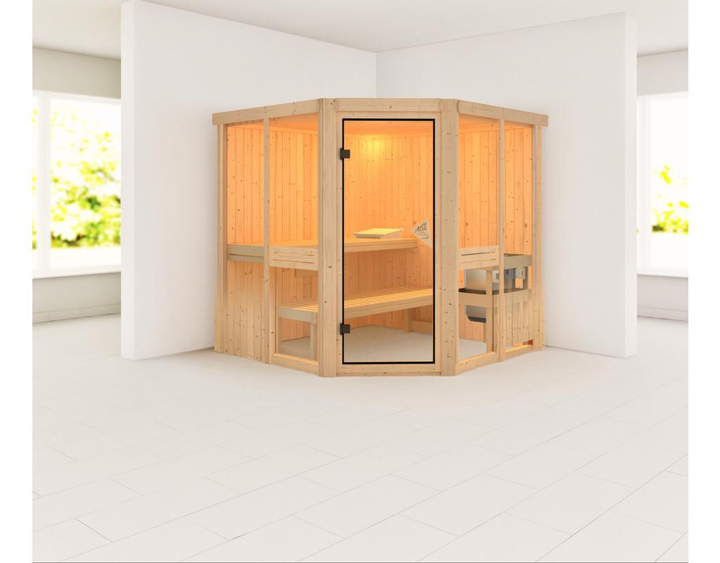 sauna systemsauna amelia 2 inkl 9 kw saunaofen integr steuerung ka3990. Black Bedroom Furniture Sets. Home Design Ideas