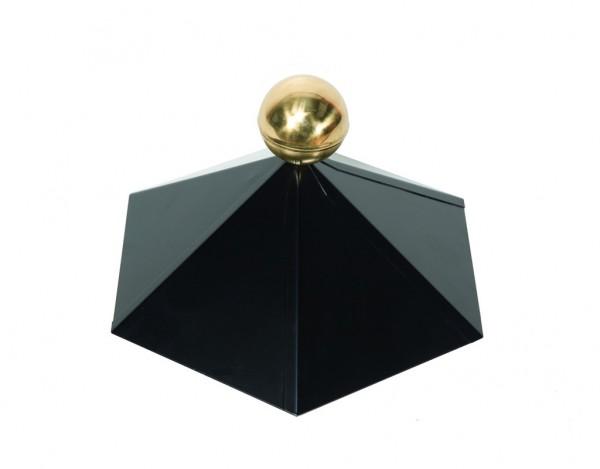 Dachhaube schwarz 6-eckig