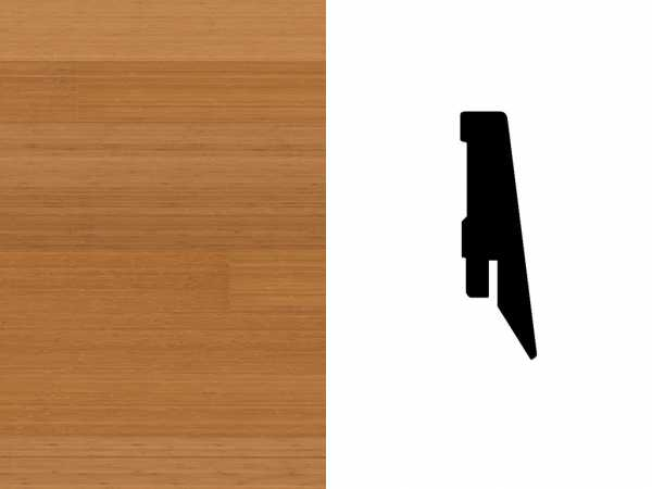 Sockelleiste Bambus karamellbeige Furnier Profil SKL 60