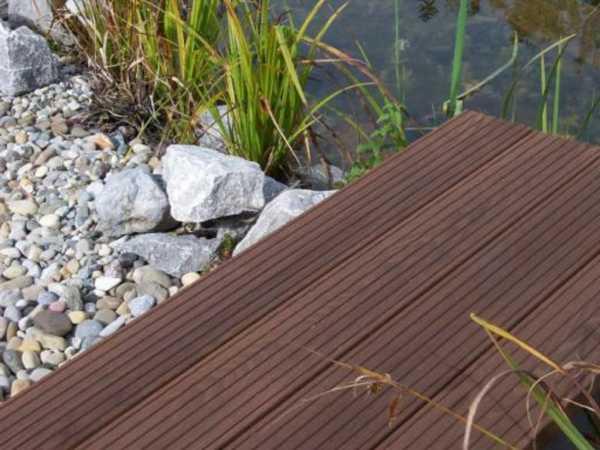 Terrassendiele Thermoesche D41 Profil Endlosdiele