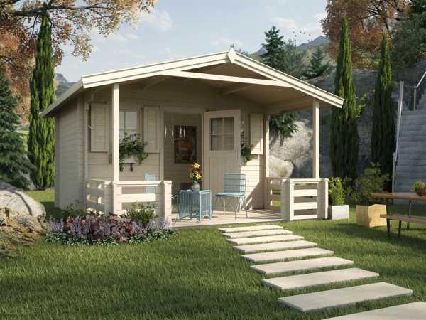 Gartenhaus 138 B Gr. 1 45 mm naturbelassen