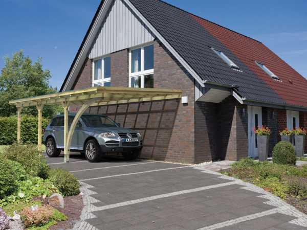 Carport Anlehncarport 3 ECO inkl. Rundbogen