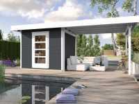 Gartenhaus Designhaus wekaLine 172 B Gr. 2 28 mm anthrazit