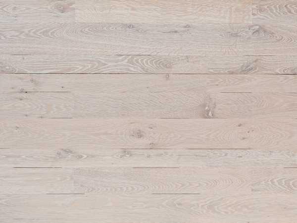 Massivholzdiele Eiche rustikal glatt weiß geölt